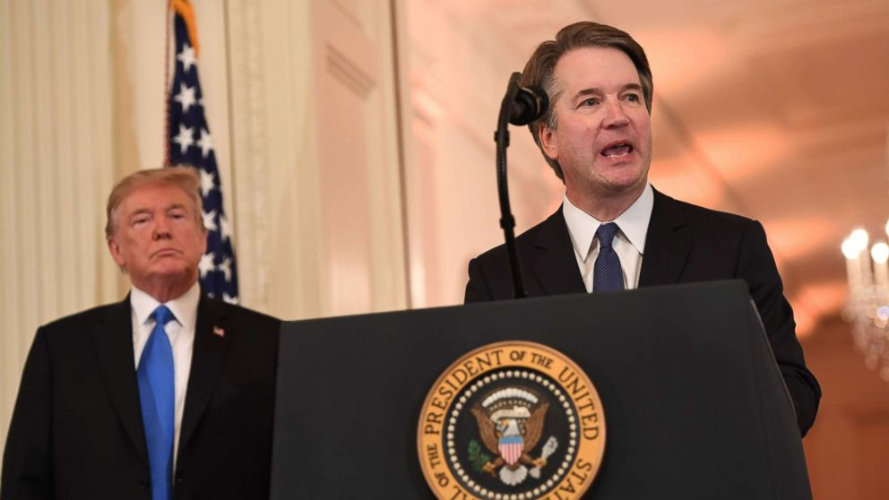 Judge Brett Kavanaugh speaks after being nominated by US President Donald Trump to the Supreme Court in the East Room of the White House on July 9, 2018 in Washington.