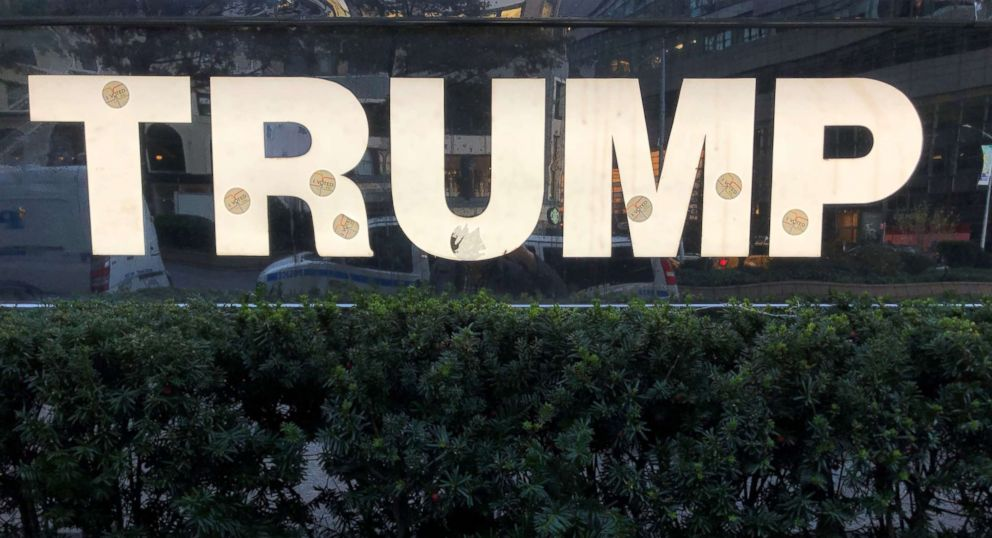 e32f5d07 PHOTO: A sign at Trump International Hotel in New York City with I voted  stickers