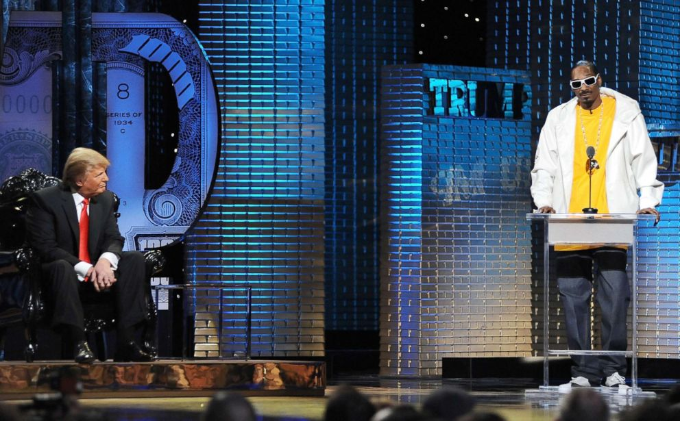 PHOTO: Rapper Snoop Dogg roasts Donald Trump onstage at the Comedy Central Roast Of Donald Trump at the Hammerstein Ballroom, March 9, 2011, in New York City.