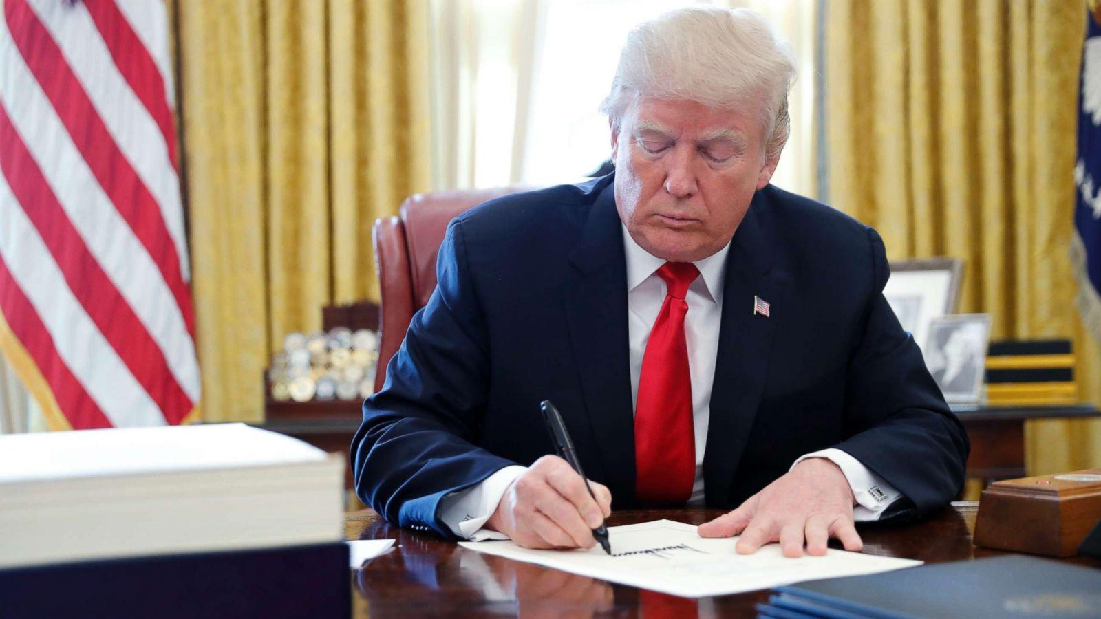 President Trump signs tax bill into law - ABC News