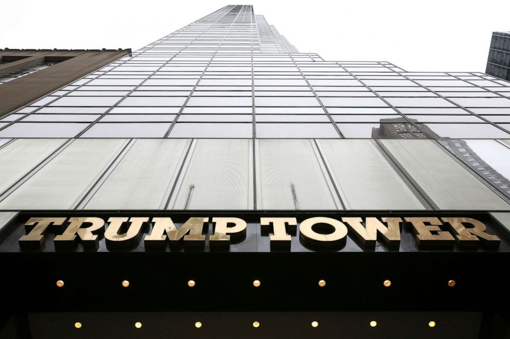 PHOTO: Trump Tower on 5th Avenue in the Manhattan borough of New York City, April 18, 2019.