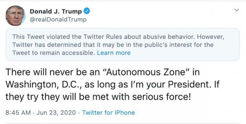 Twitter Slaps Label On Another Trump Tweet As The Platform S Scrutiny Intensifies Abc News