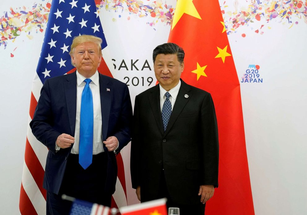 PHOTO: President Donald Trump and Chinas President Xi Jinping pose for a photo ahead of their bilateral meeting during the G20 leaders summit in Osaka, Japan, June 29, 2019.
