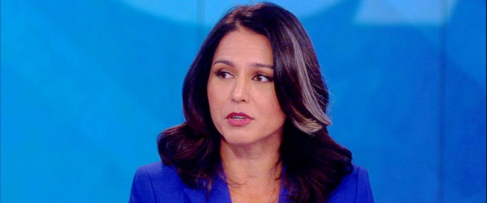 """PHOTO: Tulsi Gabbard appeared on """"The View,"""" July 22, 2019."""