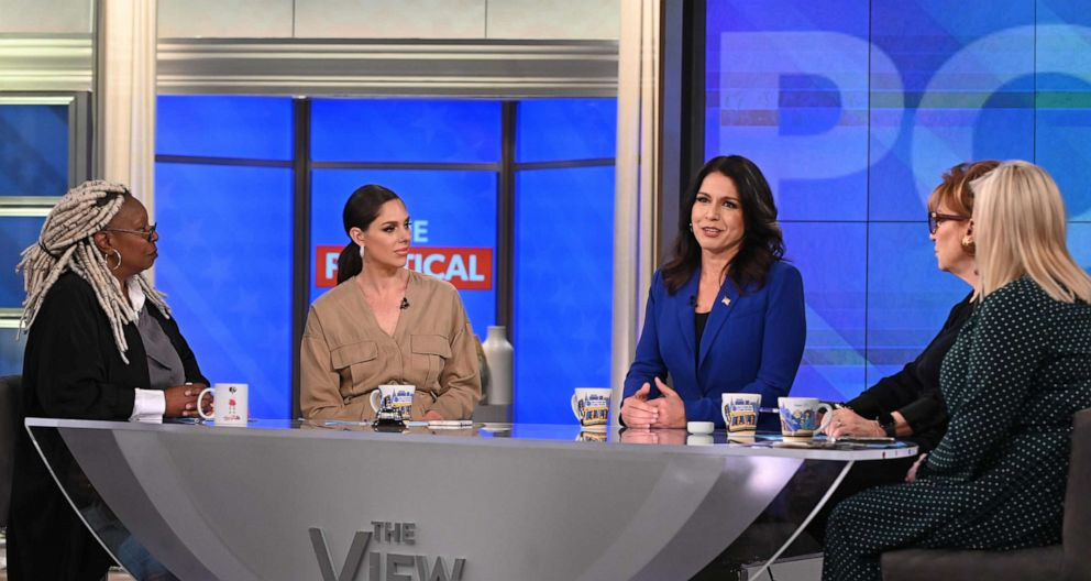PHOTO: Hawaii Rep. Tulsi Gabbard appeared on The View, Nov. 6, in her third appearance this year.