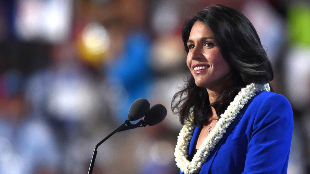 Representative Tulsi Gabbard speaks during Day 2 of the Democratic National Convention in Philadelphia, July 26, 2016.