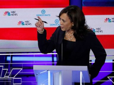 Harris renews attacks on Biden and busing, calls debate remarks 'revisionist history'