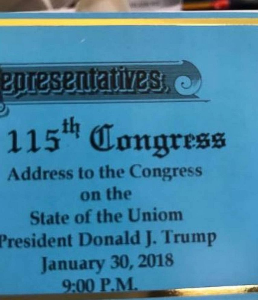 Tickets for President Trumps first State of the Union contained a major typo: The misspelling of uniom.