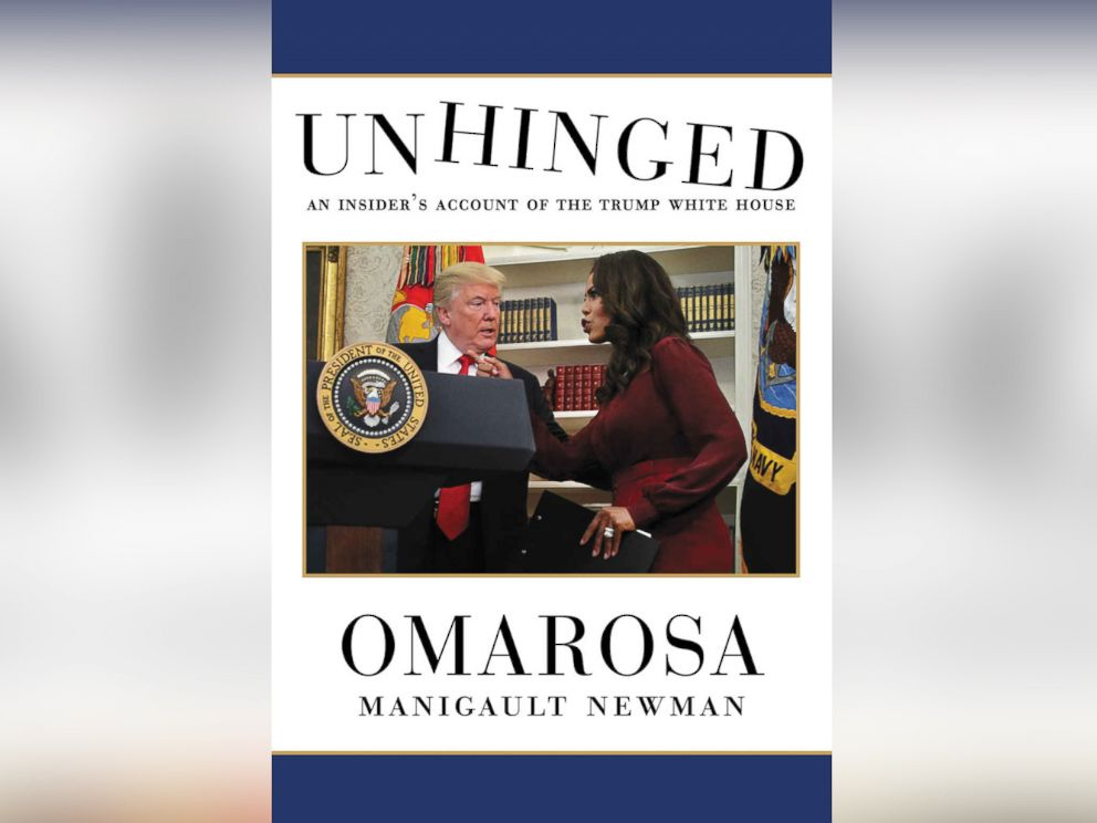 PHOTO: Book cover for Omarosa Manigault Newmans Unhinged: An Insiders Account of the Trump White House.