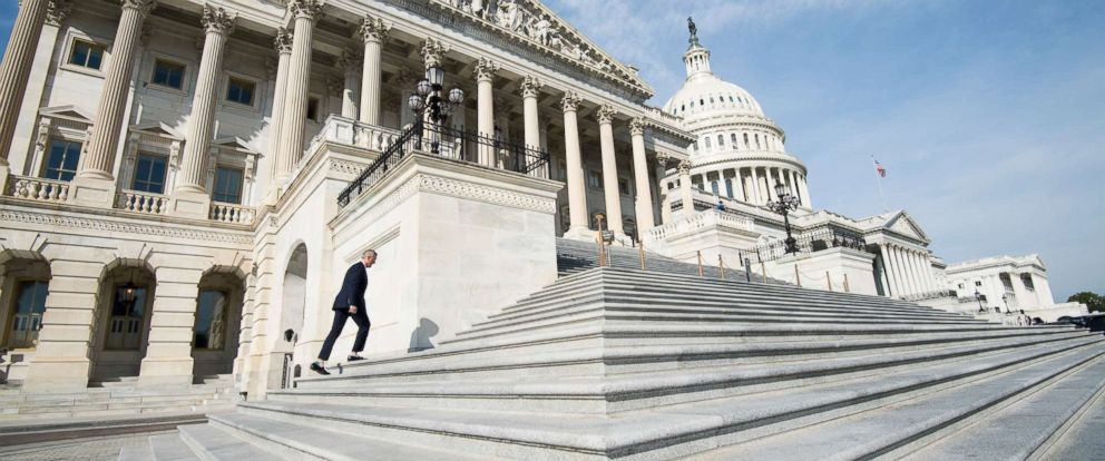 PHOTO: Rep. John Katko, R-N.Y., walks up the House steps for votes in the Capitol, Nov. 3, 2017.