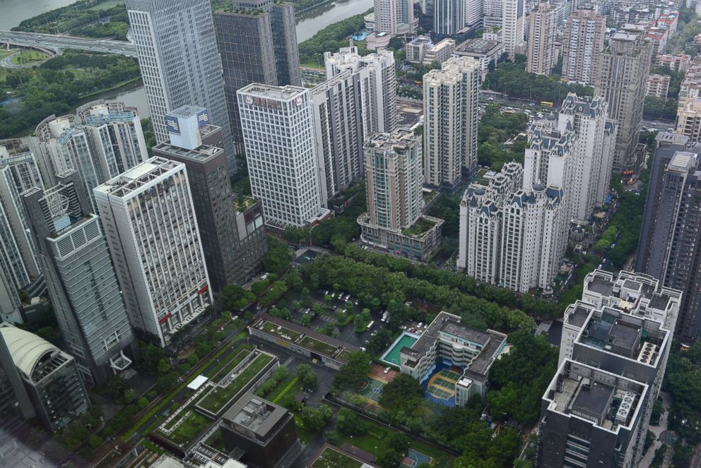PHOTO: An aerial view of the U.S. Consulate General in Guangzhou at the Zhujiang New Town, the citys central business district, in Guangzhou in south Chinas Guangdong province, June 7, 2018.
