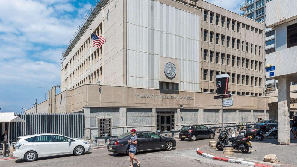 The U.S. Embassy in Tel-Aviv, Israel is seen in this file photo, April 14, 2017.