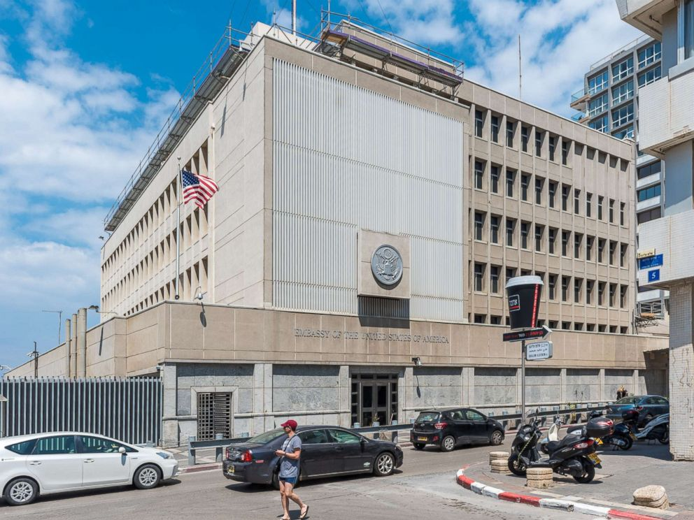 PHOTO: The U.S. Embassy in Tel-Aviv, Israel is seen in this file photo, April 14, 2017.