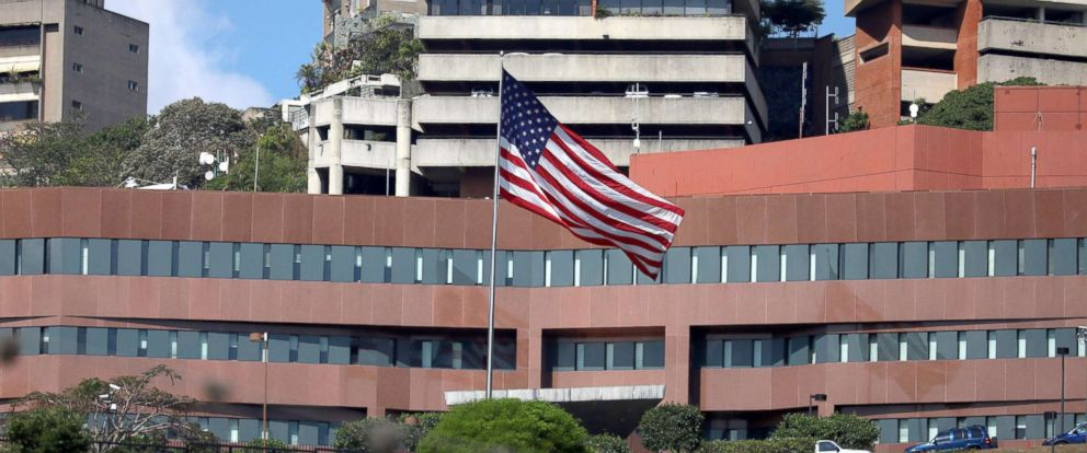 PHOTO: View of the US Embassy in Caracas, Venezuela, March 12, 2019.