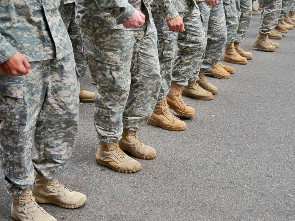 PHOTO: U.S. military troops in formation.