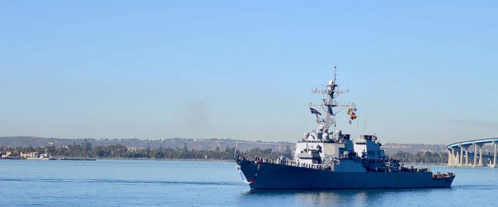 PHOTO: The guided-missile destroyer USS Decatur (DDG 73) returns to its homeport, Naval Base San Diego, after completing a seven-month deployment.