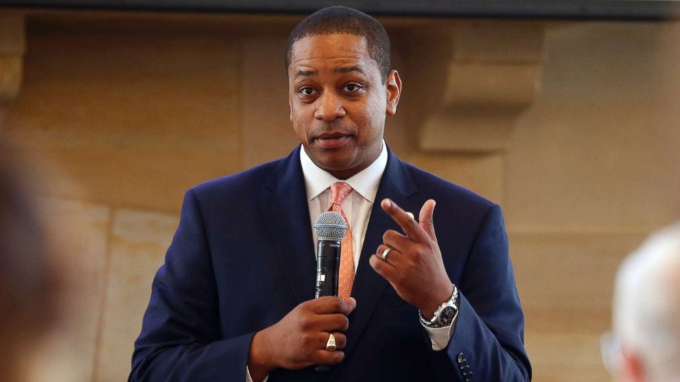Virginia Lt. Gov. Justin Fairfax gestures during remarks before a meeting in Richmond, Va., Sept. 25, 2018.
