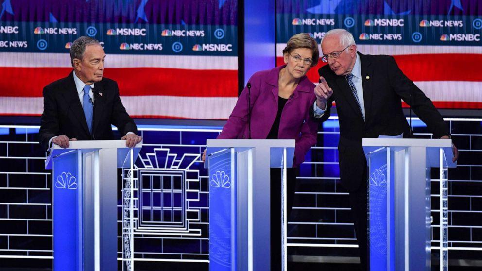 Warren, Σάντερς επίθεση Bloomberg κατά τη διάρκεια Δημοκρατική συζήτηση: Ζωντανή ενημέρωση