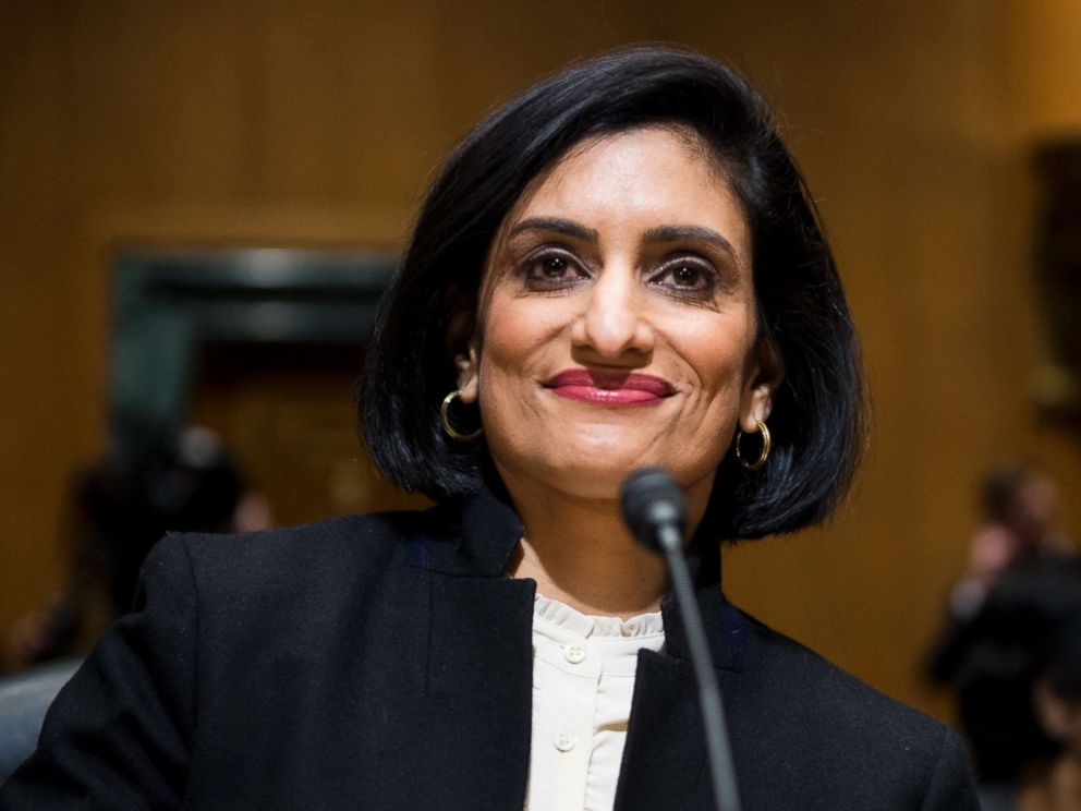 PHOTO: Seema Verma takes her seat to testify during her confirmation hearing for the position of Administrator of the Centers for Medicare and Medicaid Services, Feb. 16, 2017, in Washington D.C.