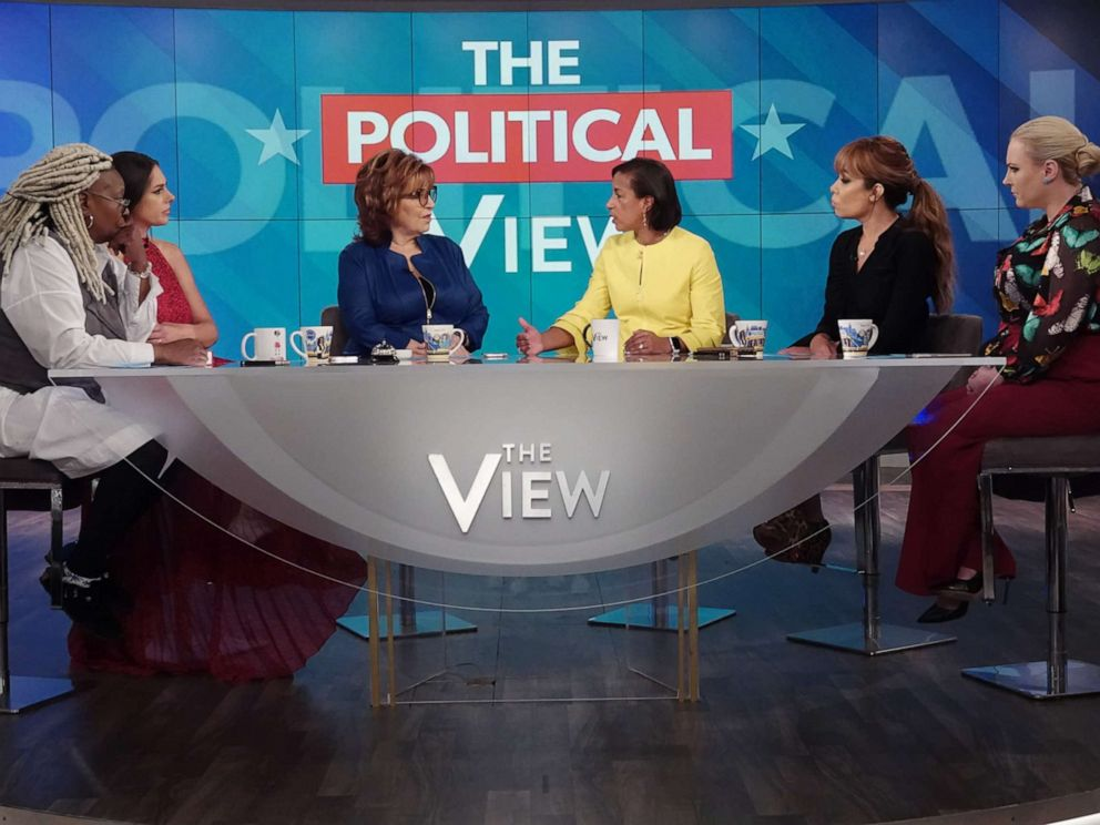 PHOTO: Former National Security Advisor Susan Rice appears on ABCs The View, in New York City, Oct. 9, 2019.