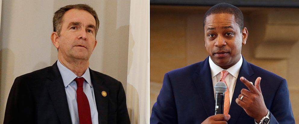 PHOTO: Virginia Gov. Ralph Northam arrives for a news conference in the Governors Mansion in Richmond, Va., Feb. 2, 2019. Virginia Lt. Gov. Justin Fairfax gestures during remarks before a meeting in Richmond, Va., Sept. 25, 2018.