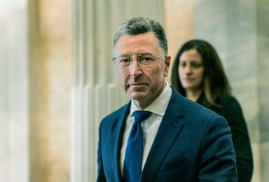 PHOTO: After an all-day deposition behind closed doors with the House Intelligence Committee, former United States envoy to the Ukraine Kurt Volker departs the Capitol, Oct. 3, 2019.