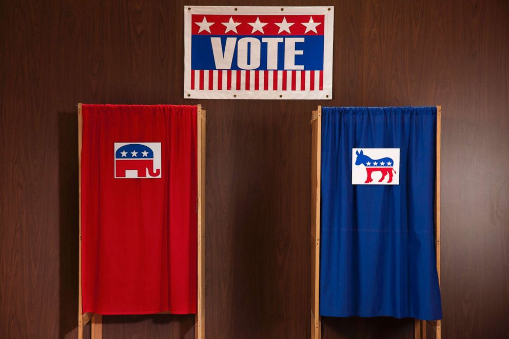 PHOTO: Voting booths are pictured in this undated stock photo.