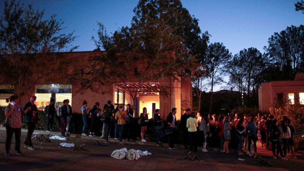 Voters wait to cast their midterm election ballots at the Cross Cultural Center in Irvine, Calif., Nov. 6, 2018.