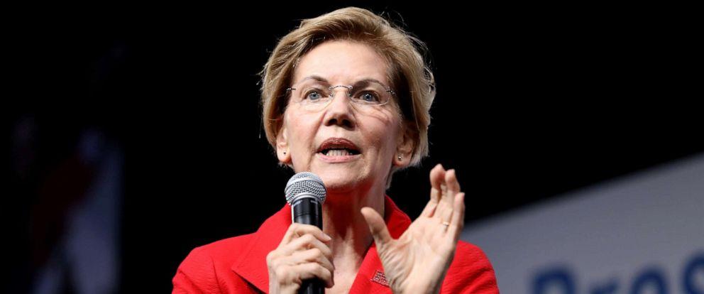 PHOTO: 2020 Democratic U.S. presidential candidate and U.S. Senator Elizabeth Warren speaks during the Presidential Gun Sense Forum in Des Moines, Iowa, U.S., Aug. 10, 2019.