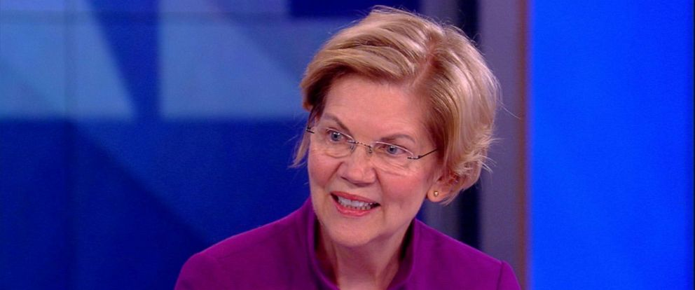 """PHOTO: Democratic presidential candidate Elizabeth Warren on """"The View,"""" May 30, 2019."""