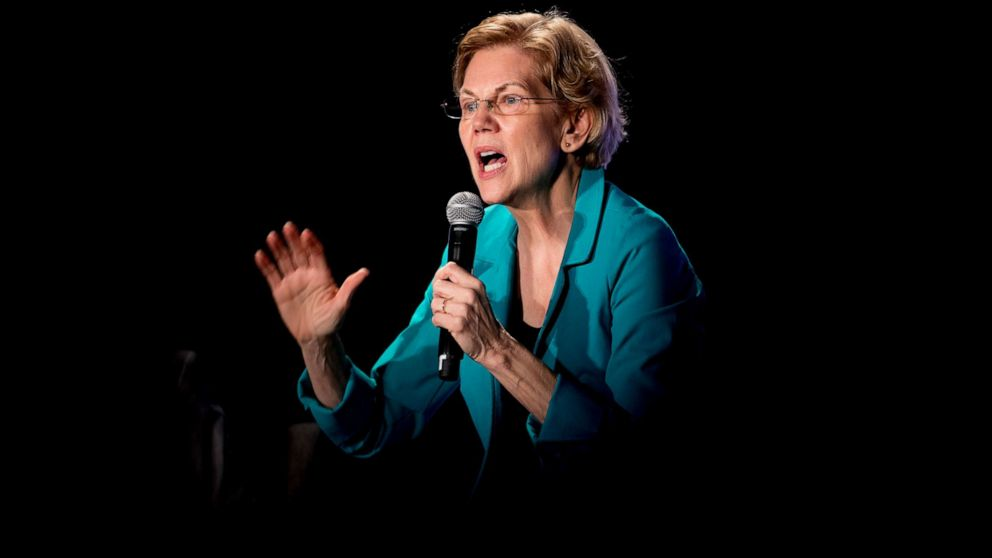 Sen. Elizabeth Warren responds to tense criticism on plan to forgive student loan debt