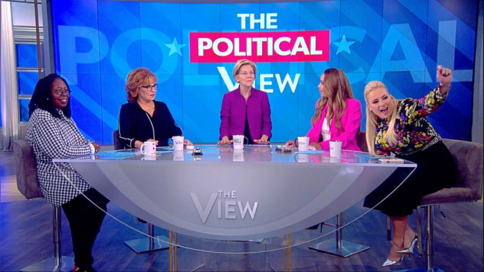 PHOTO: Democratic presidential candidate Elizabeth Warren on The View, May 30, 2019.