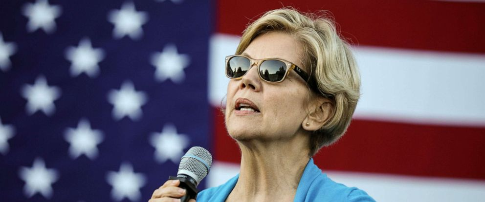 PHOTO: Democratic presidential candidate Sen. Elizabeth Warren, D-Mass., speaks at a campaign event Friday, Sept. 27, 2019, in Hollis, N.H.