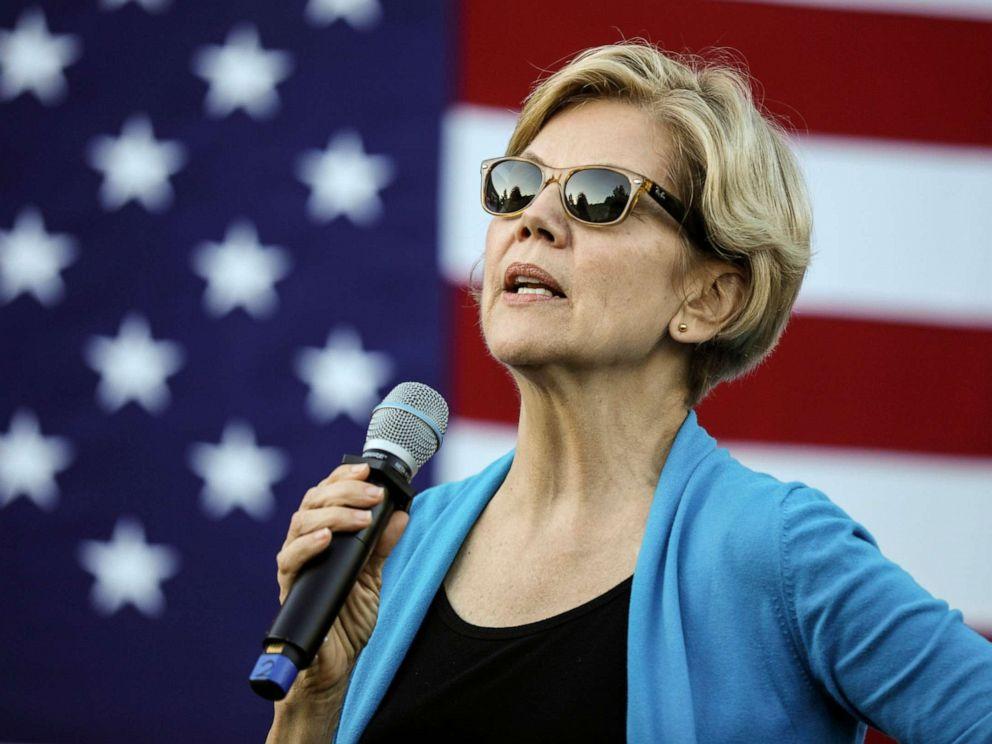 PHOTO: Democratic presidential candidate Sen. Elizabeth Warren, D-Mass., speaks at a campaign event Friday, Sept. 27, 2019, in Hollis, N.H.
