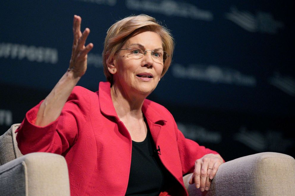 Democratic presidential candidate Sen. Elizabeth Warren, speaks at the Heartland Forum in Storm Lake, Iowa, March 30, 2019.