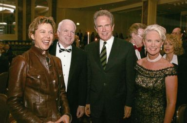 PHOTO: Actress Annette Bening, Senator John McCain (R-AZ), actor Warren Beatty and honoree Cindy MaCain pose at Operation Smiles 4th Annual Los Angeles Gala at the Regent Beverly Wilshire Hotel on Oct. 1, 2005 in Beverly Hills, Calif.
