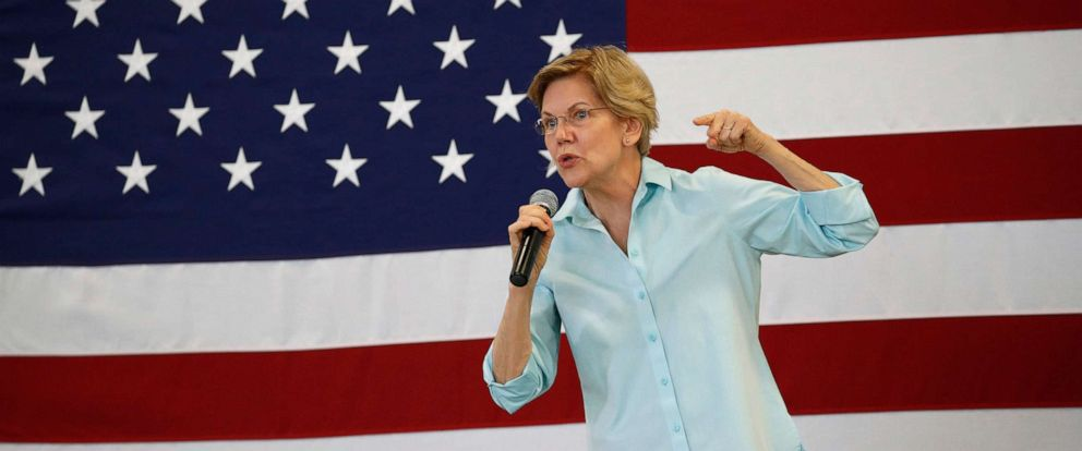 PHOTO: Democratic presidential candidate Sen. Elizabeth Warren, D-Mass., speaks at a campaign event Friday, Aug. 2, 2019, in Henderson, Nev.