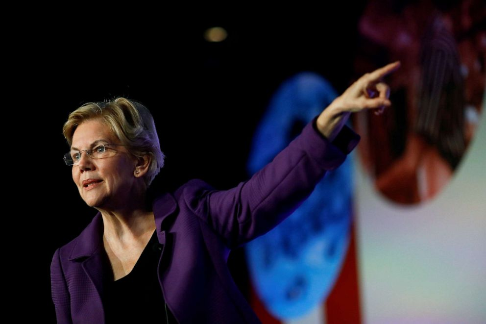 PHOTO: Democratic presidential candidate Massachusetts Sen. Elizabeth Warren attends the SEIUs Unions for All summit in Los Angeles, Ca., Oct. 4, 2019.