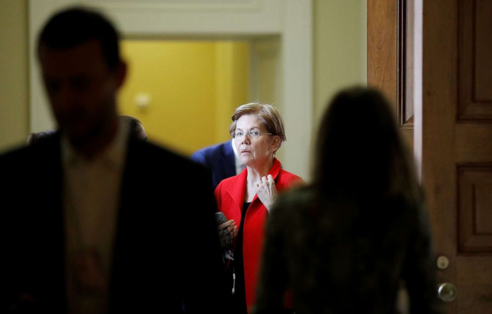 PHOTO: Senator Elizabeth Warren (D-MA) walks to a meeting on Capitol Hill, Nov. 14, 2018.