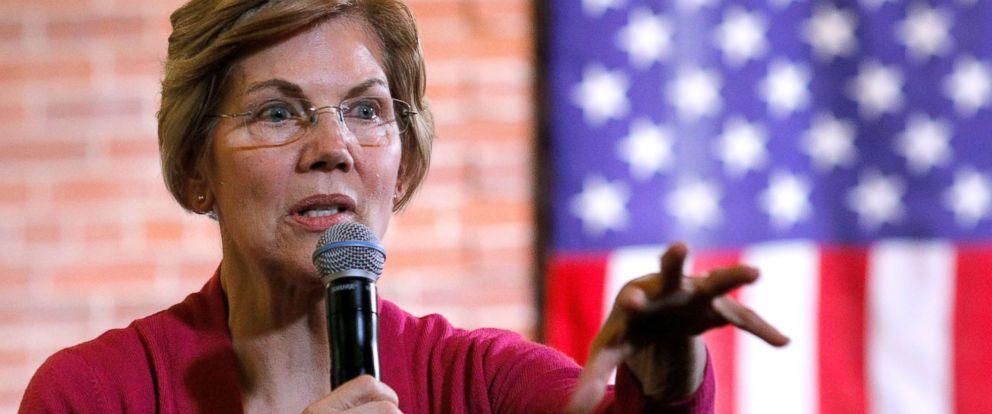 PHOTO: Senator Elizabeth Warren (D-MA) speaks at an organizing event in Claremont, N.H., Jan. 18, 2019.