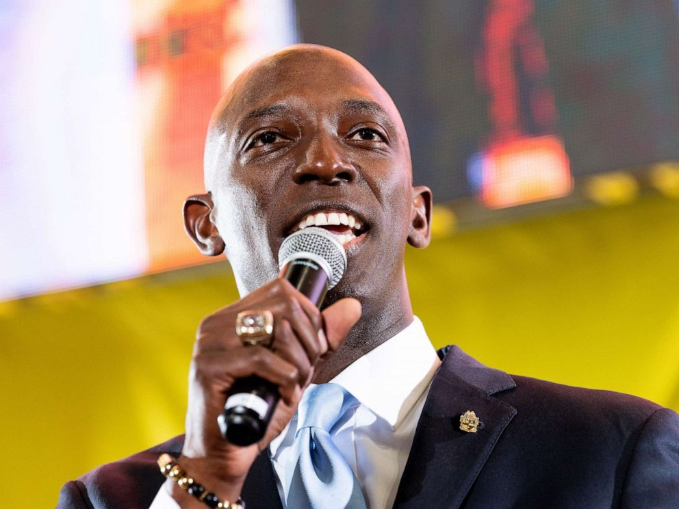 PHOTO: Wayne Messam speaks at the Poor Peoples Moral Action Congress taking place at Trinity Washington University in Washington, DC on June 17, 2019.