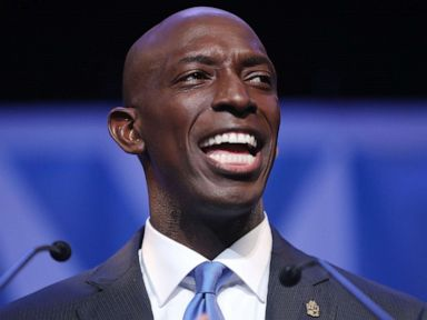 PHOTO: Wayne Messam speaks at a rally at Florida Memorial University in Miami Gardens, Florida, March 30, 2019.