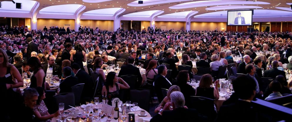 PHOTO: Guests attend the 2019 White House Correspondents Association Dinner at the Washington Hilton, April 27, 2019, in Washington, D.C.