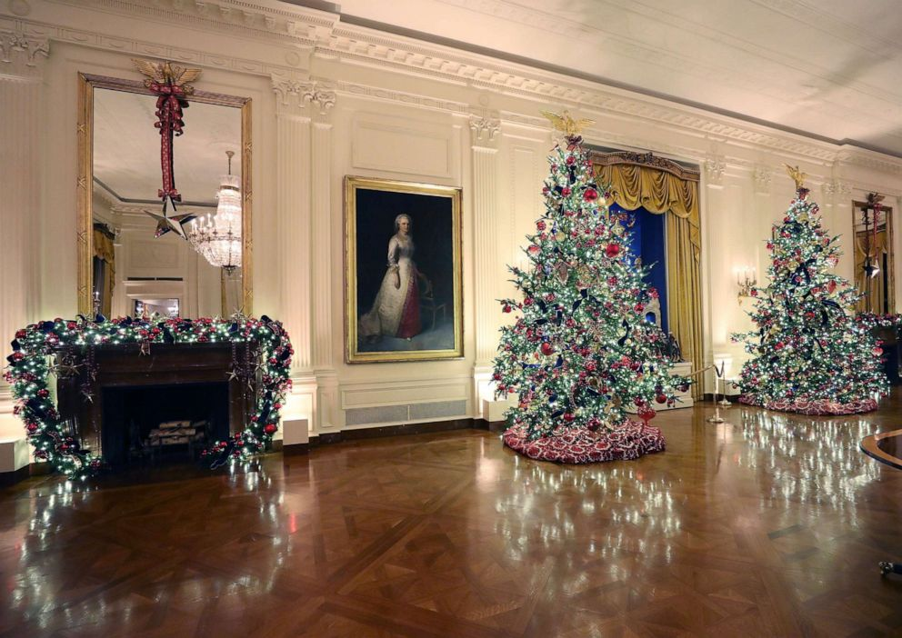 2020 Christmas Trees At The White House Washington Dc After criticism, Melania Trump unveils patriotic themed White