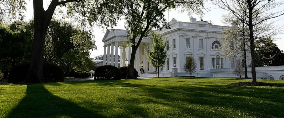 PHOTO: A view of the White House in Washington,D.C., April 17, 2019.