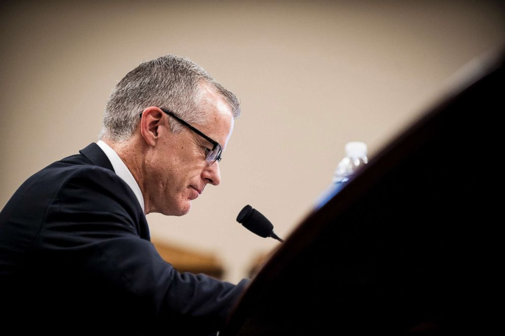 PHOTO: Acting FBI Director Andrew McCabe testifies before a House Appropriations subcommittee meeting on June 21, 2017 in Washington.