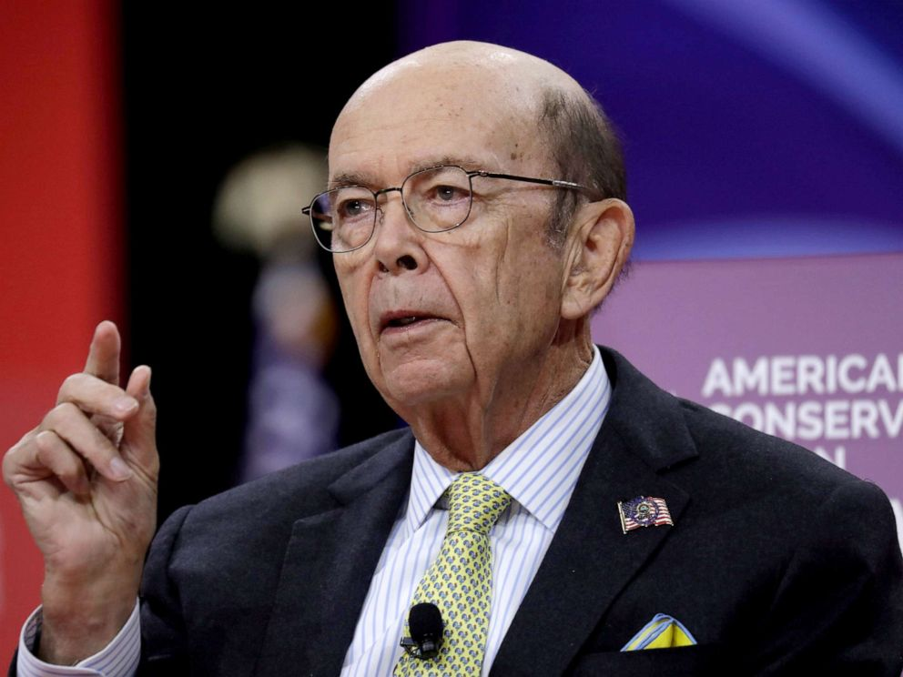 PHOTO: Commerce Secretary Wilbur Ross speaks at the Conservative Political Action Conference (CPAC) annual meeting at National Harbor near Washington, March 1, 2019.