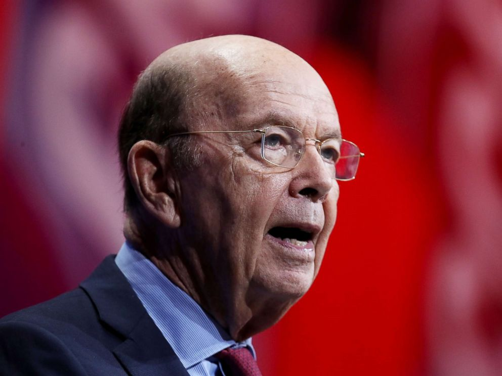 Wilbur Ross speaks at an event in National Harbor Md