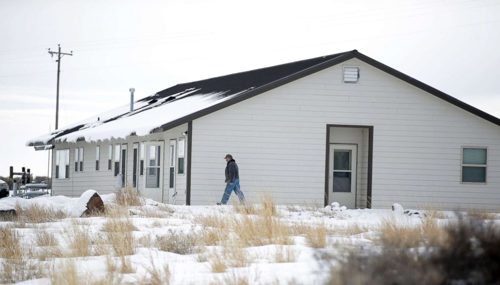 PHOTO: A member of the group occupying the Malheur National Wildlife Refuge headquarters walks to one of its buildings, Jan. 4, 2016, near Burns, Oregon.