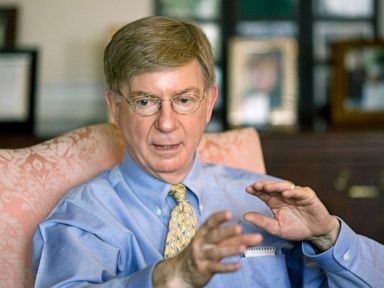 PHOTO: Conservative columnist and pundit George Will, is interviewed in this office in Washington D.C., April 22, 2008.